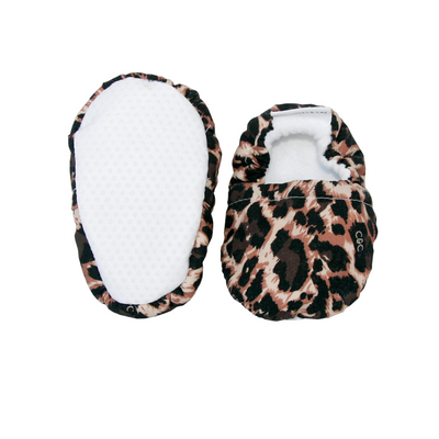 Leopard Baby Booties & matching Dribble Bib - Gift Set - Chuckles & Caz
