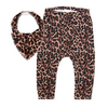 Leopard Leggings & matching Dribble Bib - Gift Set - Chuckles & Caz
