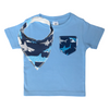 Shark Print Pocket Tee & matching Dribble Bib - Gift Set - Chuckles & Caz