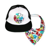 Little Monster Trucker Cap & matching Dribble Bib - Gift Set - Chuckles & Caz