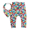 Little Monster Leggings & matching Dribble Bib - Gift Set - Chuckles & Caz