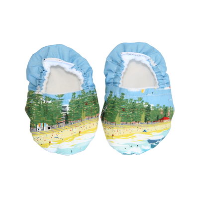 Manly Surf Beach Baby Booties & matching Dribble Bib - Gift Set - Chuckles & Caz