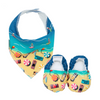 Manly Beach Baby Booties & matching Dribble Bib - Gift Set - Chuckles & Caz
