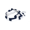Navy Chevron Dribble Bib - Chuckles & Caz