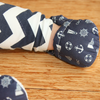 Navy Nautical Baby Booties - Chuckles & Caz
