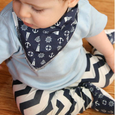 Boys Dribble Bib 2pk - Gift Set 2 - Chuckles & Caz