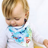 Ocean Watercolour Dribble Bib - Chuckles & Caz