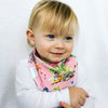 Pink Watercolour Jungle Dribble Bib