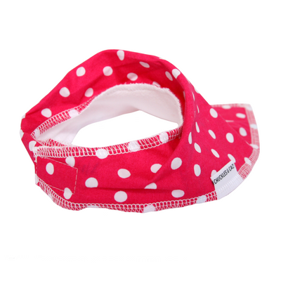 Pink Polk Dot Dribble Bib - Chuckles & Caz