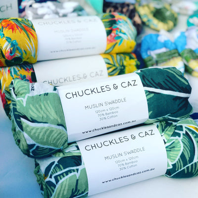 Tropical Palm Muslin Swaddle - Chuckles & Caz