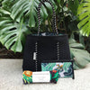 Tropical Palm / Black Reversible Neoprene Tote Bag & Jungle Muslin Swaddle - Gift Set