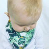 Tropical Palm Baby Booties & matching Dribble Bib - Gift Set - Chuckles & Caz