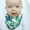 Tropical Palm Dribble Bib - Chuckles & Caz