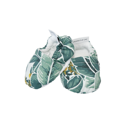 Tropical Palm Baby Booties - Chuckles & Caz