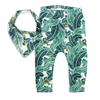 Tropical Palm Leggings & matching Dribble Bib - Gift Set - Chuckles & Caz