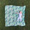 Tropical Palm Muslin Swaddle