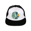 Tropical Palm Flat Brim Trucker Cap - Chuckles & Caz