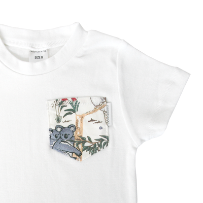 Australian Sketched Animals Print Pocket Tee - Chuckles & Caz