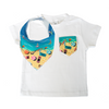 Manly Print Pocket Tee & matching Dribble Bib - Gift Set - Chuckles & Caz