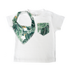 Tropical Palm Print Pocket Tee & matching Dribble Bib - Gift Set - Chuckles & Caz