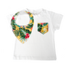 Yellow Hawaiian Print Pocket Tee & matching Dribble Bib - Gift Set - Chuckles & Caz