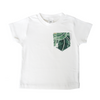 Tropical Palm Print Pocket Tee - Chuckles & Caz
