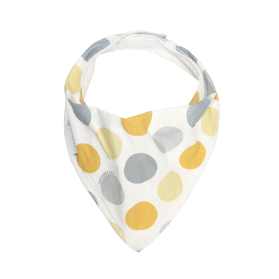 Yellow Spot Dribble Bib - Chuckles & Caz