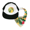 Yellow Hawaiian Trucker Cap & matching Dribble Bib - Gift Set - Chuckles & Caz