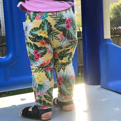 Yellow Hawaiian Leggings - Chuckles & Caz