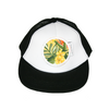 Yellow Hawaiian Flat Brim Trucker Cap - Chuckles & Caz