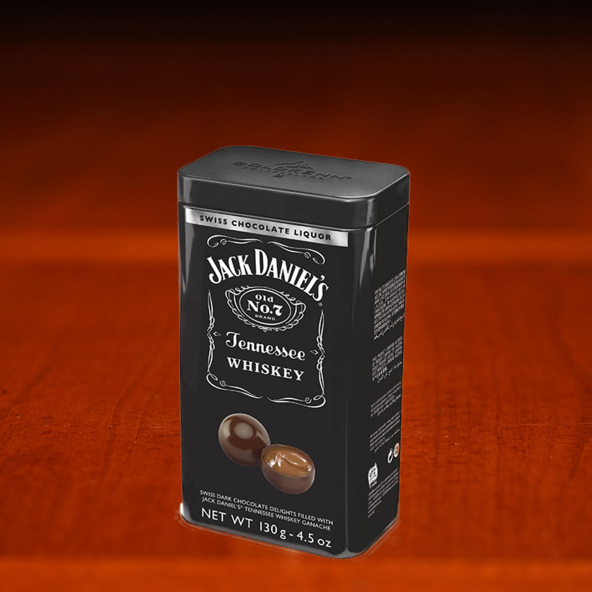 Jack Daniel's Goldkenn Swiss Chocolate Gift tin at The Whiskey Cave