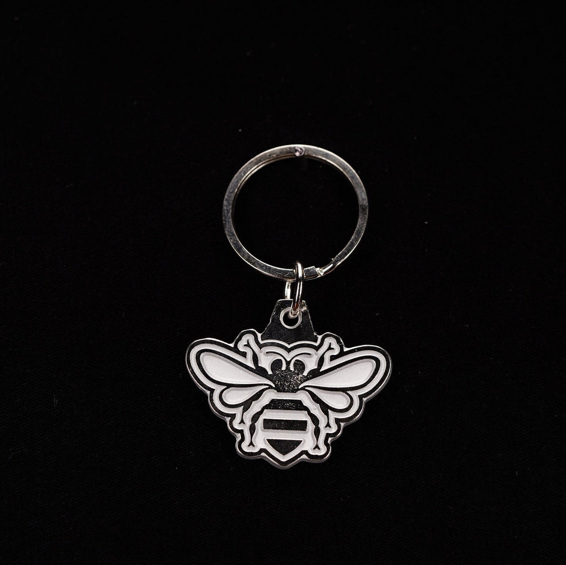 Jack Daniel's Tennessee Honey Bee Metal enameled Keychain - The Whiskey Cave
