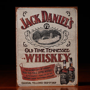 New vintage style Jack Daniels metal sign available at the whiskey cave