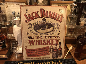 Jack Daniel's Old Time Whiskey Metal Sign - The Whiskey Cave