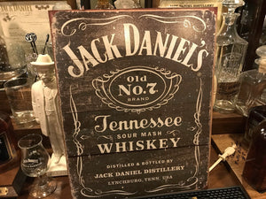 Jack Daniel's Distressed Metal Sign - The Whiskey Cave