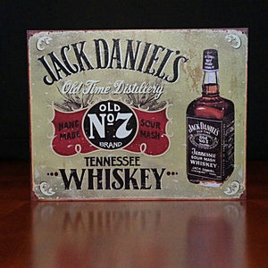 Jack Daniel's Tennessee Whiskey Metal Sign - The Whiskey Cave