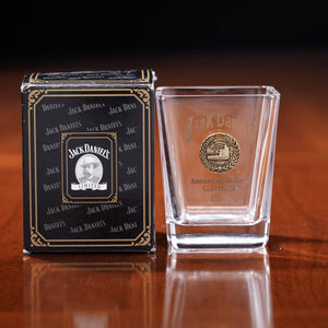 Jack Daniel's 1981 Gold Medal Boxed Shot Glass from 2006 at The Whiskey Cave