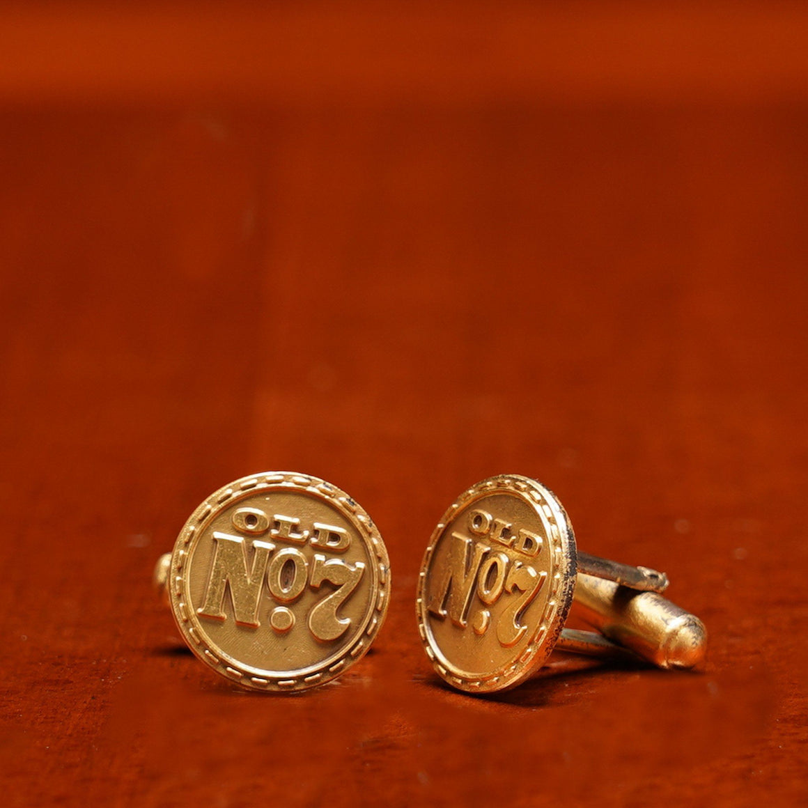 Jack Daniels 1970's set of Old No 7 Cufflinks at The Whiskey Cave