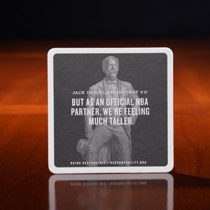 Jack Daniels statue coaster from 2017 with nba partnered