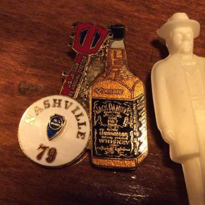 1979 Jack Daniel's Tennessee Jaycees Banjo Pin - The Whiskey Cave
