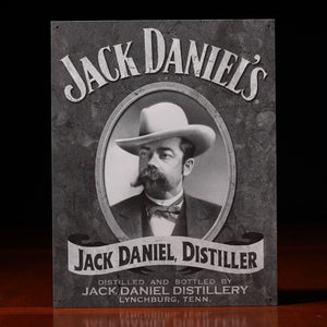 Jack Daniel's Cameo portrait of Jack Metal Sign - The Whiskey Cave