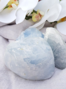 Blue Calcite Half Polished