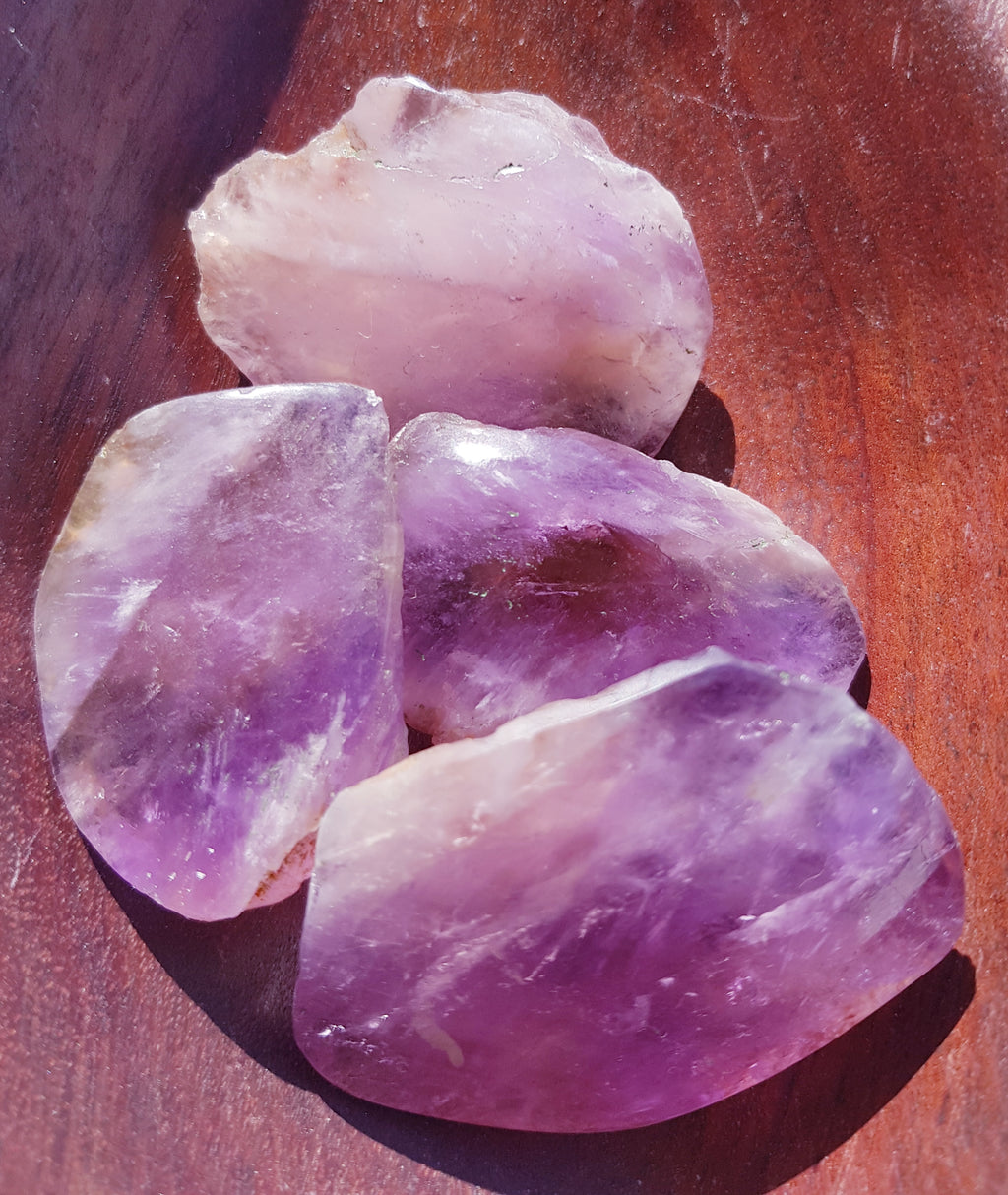 Ametrine Half Polished Small