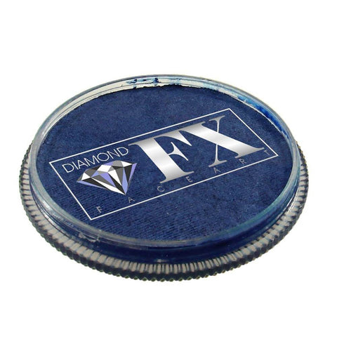 Diamond FX vandbaseret sminke Blue Metallic 32 g