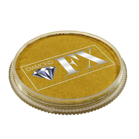 Diamond FX vandbaseret sminke Gold Metallic 30 g