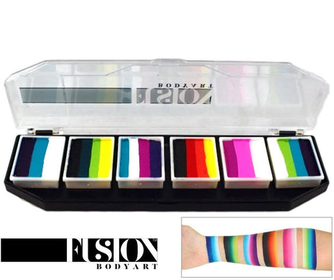 Fusion Body Art Rainbow Burst med 6 split cakes