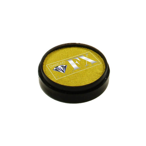 Diamond FX vandbaseret sminke Yellow Metallic 10 g