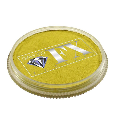 Diamond FX vandbaseret sminke Yellow Metallic 30 g