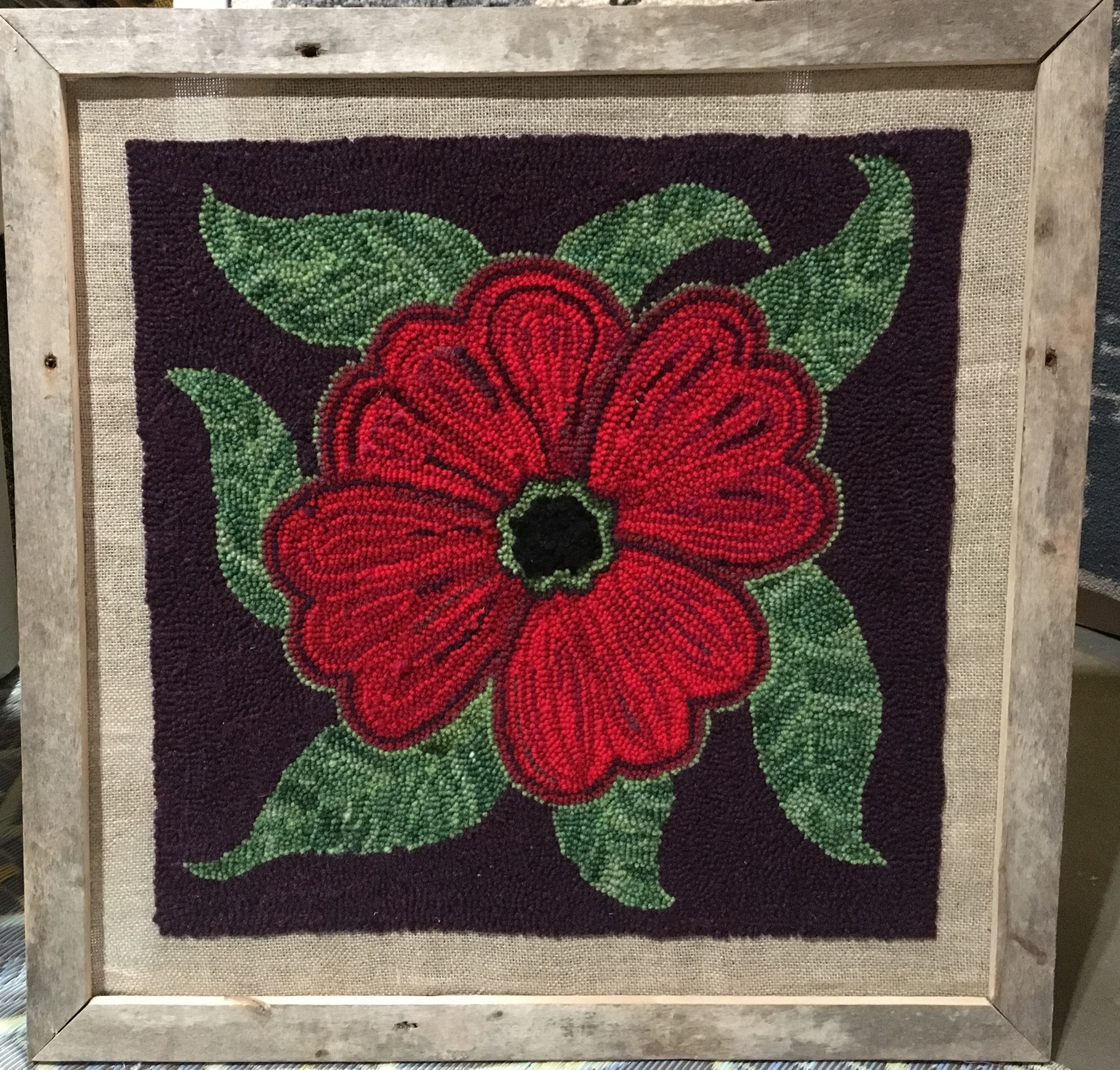Poppy Punched Rug Wall Hanging