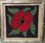 Poppy Rug Wall Hanging - Punched with Wool